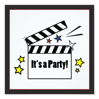 Movies Birthday Party Card