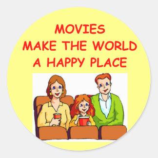 movies classic round sticker