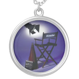 Movies - Entertainment - Cinema - Film Photo Silver Plated Necklace