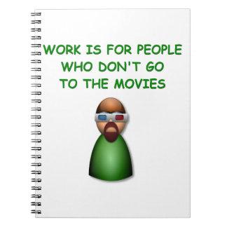 movies spiral notebooks