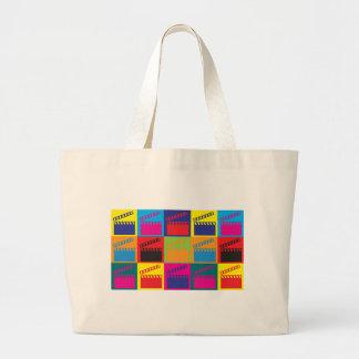 Movies Pop Art Large Tote Bag