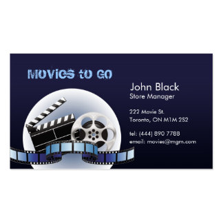Movies to GO Business Card