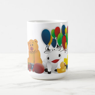 Móvil amable de niño taza de café