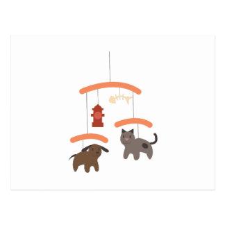 Móvil animal tarjetas postales