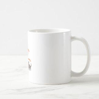 Móvil animal taza básica blanca