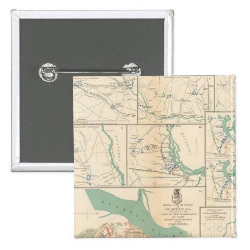 Móvil, Blakely, el Transbordador-Cantón de Messing Pin Cuadrado