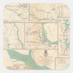 Móvil, Blakely, el Transbordador-Cantón de Pegatina Cuadrada