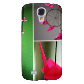Móvil de la grúa de Origami de las rosas fuertes Funda Para Galaxy S4