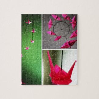 Móvil de la grúa de Origami de las rosas fuertes Rompecabezas
