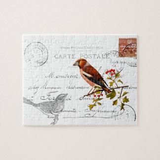 Móvil nostálgico con pájaro rompecabeza