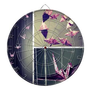 Móvil rosado del espiral de la grúa del origami de