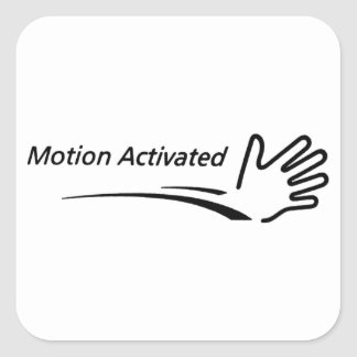 Movimiento activado pegatina cuadrada
