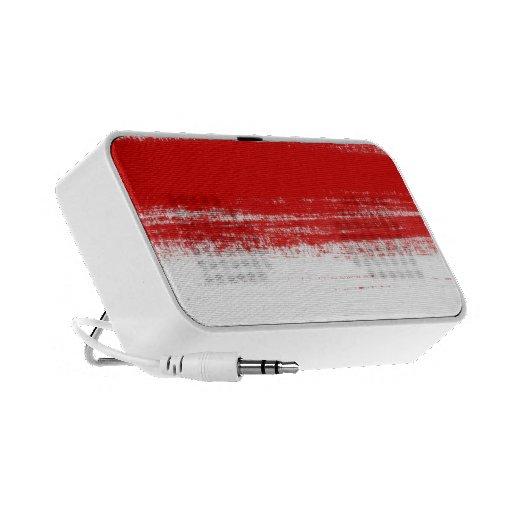 Movimiento artístico rojo del cepillo mp3 altavoces