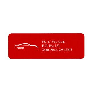 Movimiento blanco del cepillo de Nissan 350z (rojo Etiquetas De Remite