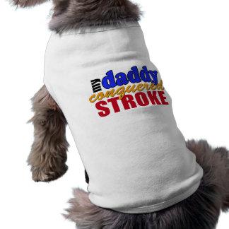 Movimiento conquistado papá camisa de perro