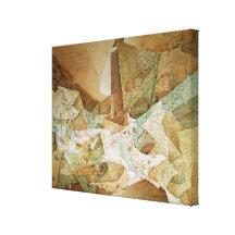 Movimiento Cosmico Stretched Canvas Prints