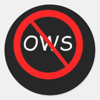 Movimiento de ANTI-OWS Pegatinas Redondas
