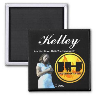Movimiento de Kelley Indieheat.com Imán Cuadrado