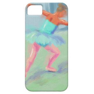 Movimiento de la danza en azul funda para iPhone 5 barely there