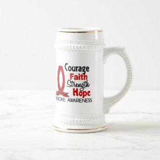 Movimiento de la esperanza de la fuerza de la fe jarra de cerveza