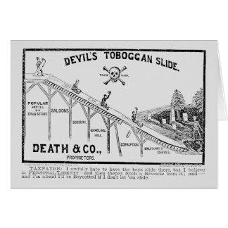 Movimiento de la templanza, 1887 tarjeta pequeña