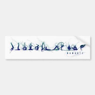 Movimiento de la yoga etiqueta de parachoque