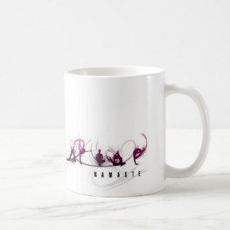 Movimiento de la yoga taza de café