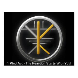 ¡Movimiento de las karmas - la karma positiva es Postal