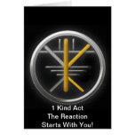 ¡Movimiento de las karmas - la karma positiva es u Tarjeta