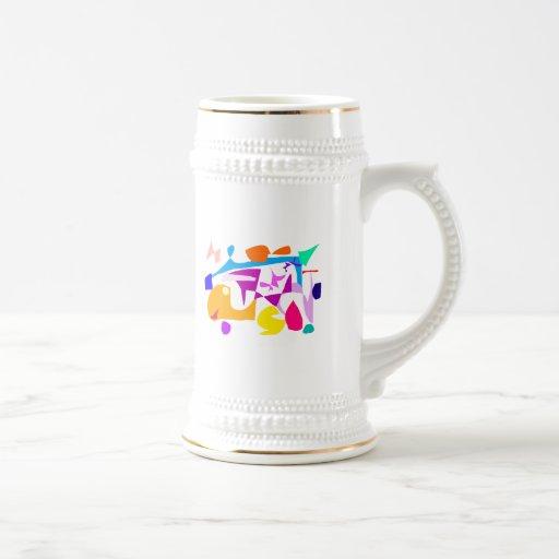 Movimiento del científico de las matemáticas de la tazas de café