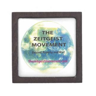 Movimiento del espíritu de la época caja de joyas de calidad