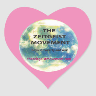 Movimiento del espíritu de la época pegatina en forma de corazón