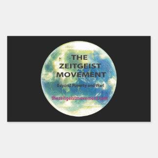 Movimiento del espíritu de la época pegatina rectangular