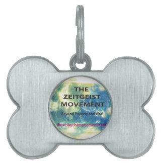 Movimiento del espíritu de la época placas de mascota