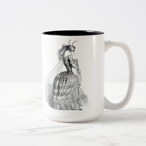 Movimiento del insecto tazas de café