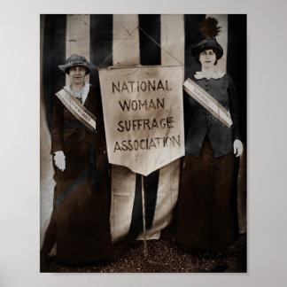 Movimiento del sufragio de las mujeres poster
