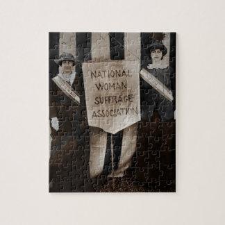 Movimiento del sufragio de las mujeres rompecabezas con fotos