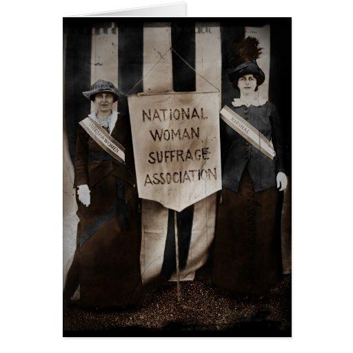 Movimiento del sufragio de las mujeres tarjeta de felicitación
