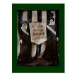 Movimiento del sufragio de las mujeres tarjetas postales