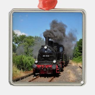 Movimiento del tren de Arnold Jung Lokomotivfabrik Adorno Navideño Cuadrado De Metal