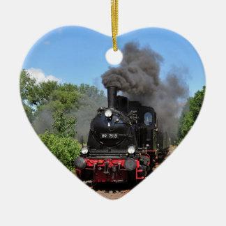 Movimiento del tren de Arnold Jung Lokomotivfabrik Adorno Navideño De Cerámica En Forma De Corazón