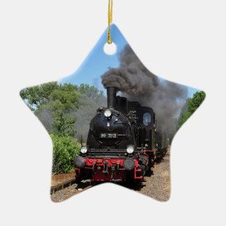 Movimiento del tren de Arnold Jung Lokomotivfabrik Adorno Navideño De Cerámica En Forma De Estrella