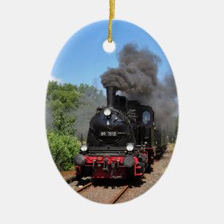 Movimiento del tren de Arnold Jung Lokomotivfabrik Adorno Navideño Ovalado De Cerámica