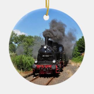 Movimiento del tren de Arnold Jung Lokomotivfabrik Adorno Navideño Redondo De Cerámica