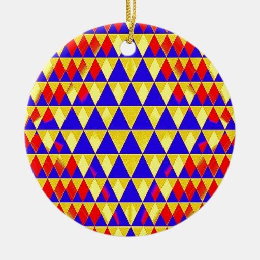 Movimiento del triángulo adorno redondo de cerámica