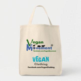 Movimiento del vegano/ropa del vegano bolsa tela para la compra