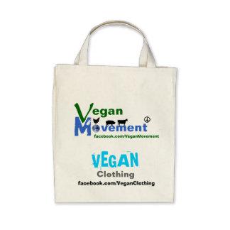 Movimiento del vegano/ropa del vegano bolsas