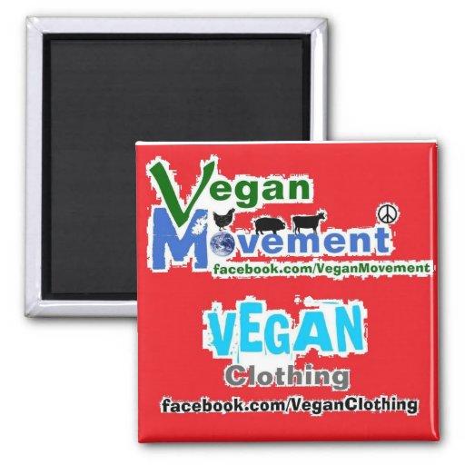 Movimiento del vegano/ropa del vegano imán de nevera