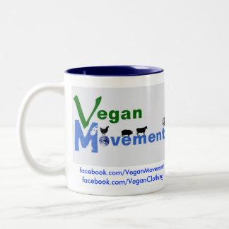 Movimiento del vegano tazas de café