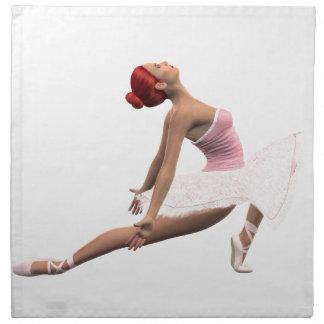 Movimiento dinámico del ballet servilleta
